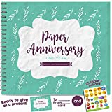 1ST ANNIVERSARY GIFTS FOR COUPLES BY YEAR - One Year Booklet with Matching Card for Paper Anniversary. First Anniversary Memory Journal - Unique 1 Year Wedding Gift for Husband or Wife!