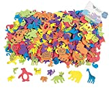 Bargain World 500 Fabulous Foam Self-Adhesive Animal Shapes (With Sticky Notes)