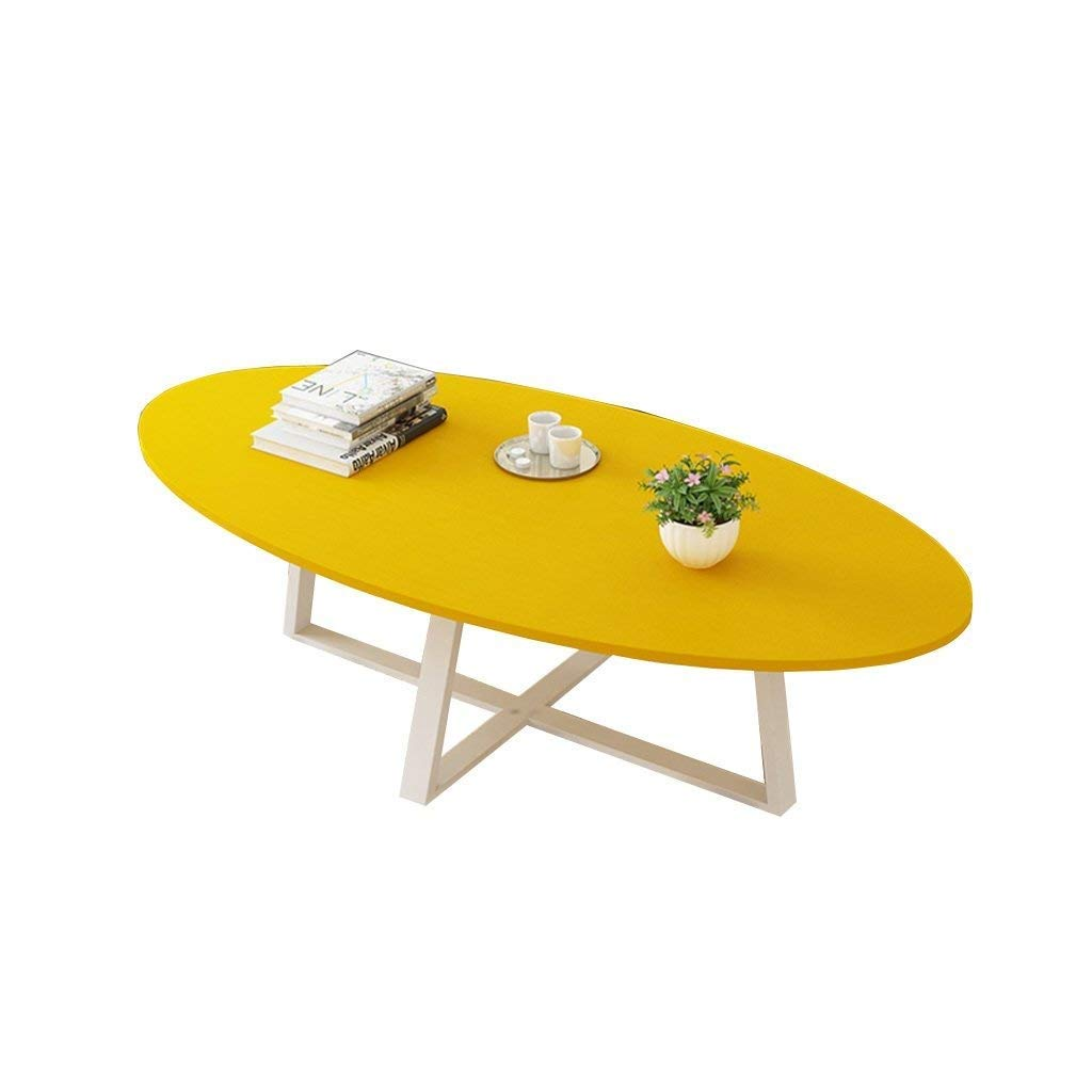 Fold Away Table -GR Folding Table Balcony Coffee Table color : Black Multi-color Optional Portable Camping Table Dining Table Oval Wooden Board Metal Living Room Dining Room Bedroom Coffee Table