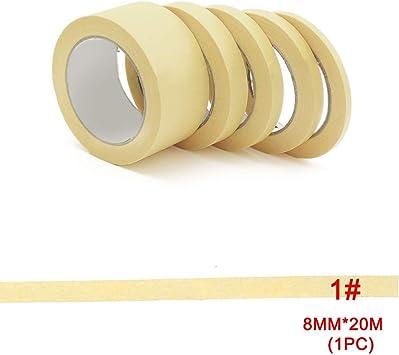 color amarillo 1 cinta de carrocero para pintura 12 mm 18 mm 30 mm 10 mm 8 mm