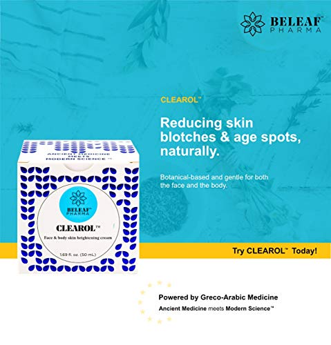 CLEAROL Brightening Cream with Alpha Arbutin, for Dark Skin, Dark Spots, Freckles that is Safe for the Face & Body