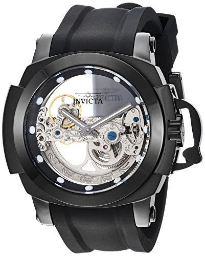 Invicta Men's Coalition Forces Stainless Steel Automatic-self-Wind Watch with Silicone Strap, Black, 26 (Model: 26291)