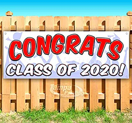 Congrats Clase de 2020. Cartel de vinilo resistente de 13 ...