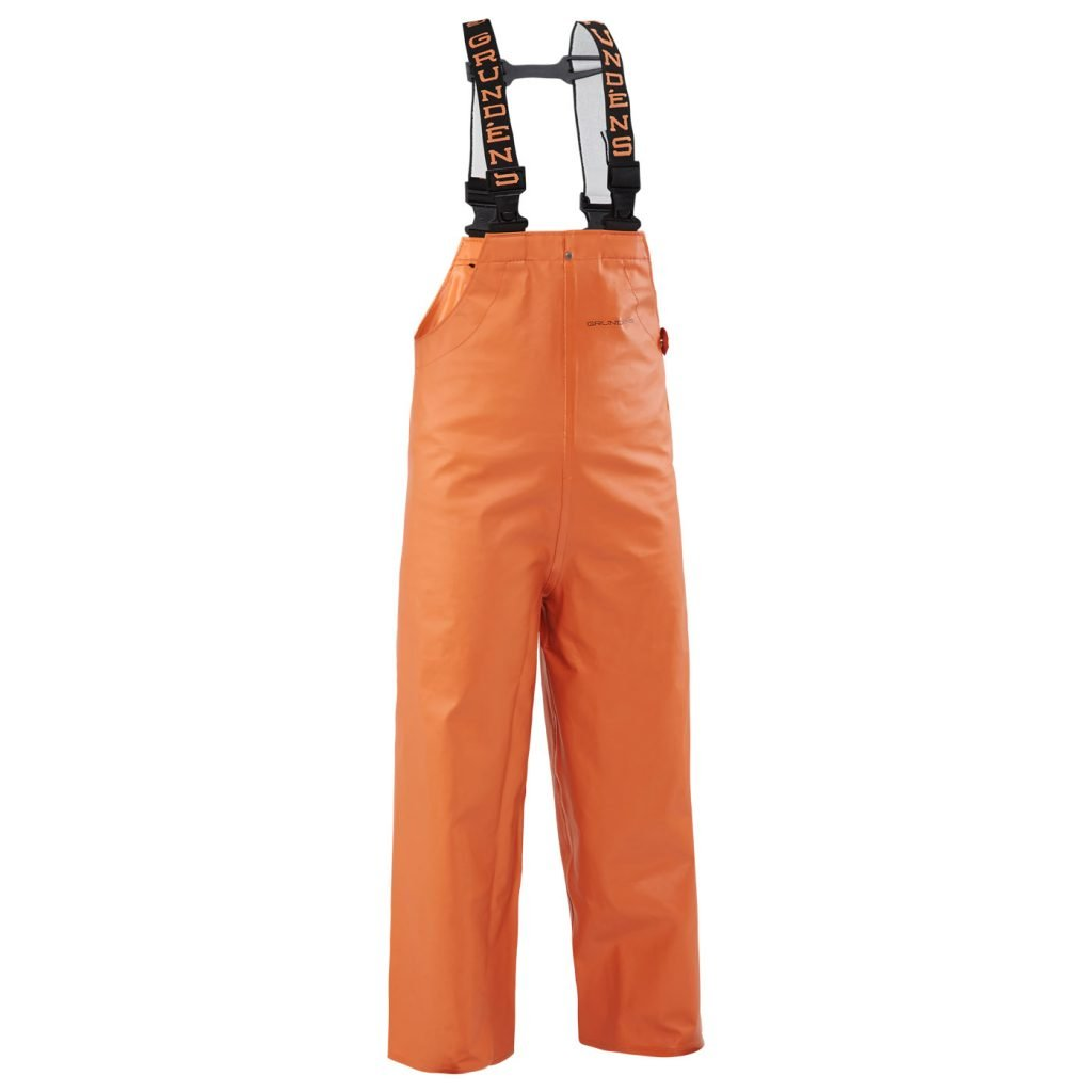 Grundens Clipper 117 Kid's Bibs, Orange, Size 16
