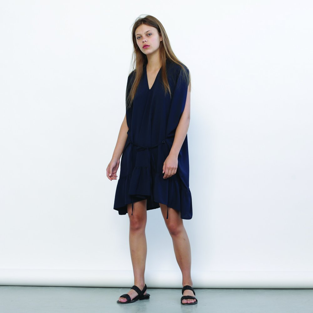 Galla dress - Blue navy ,Summer party dress.loose fitting, effortlessly chic pull on dress.Holidays Sale 50% off