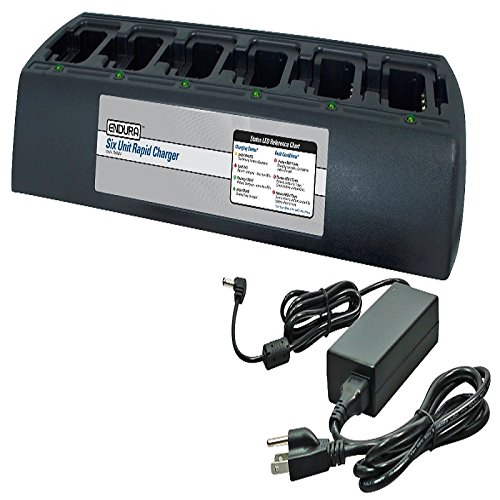 WPLN4161AR Rapid Rate 6 pocket charger for Motorola CP200 radios. WB# WCP6bank