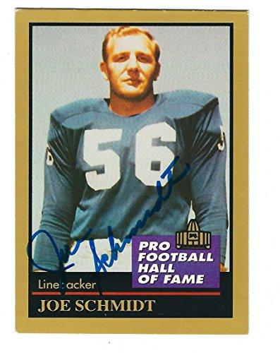 Autographed Joe Schmidt Detroit Lions 1991 Enor Card w/ COA (Card 1991 Enor)