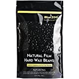 Bluezoo Stripless Professional Black Hot Film Depilatory Hard Wax Beans For Men,Ideal Depilatory Wax for All kinds of Skin Types,250g/Bag