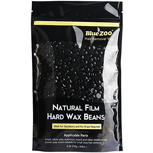 Price comparison product image Bluezoo Stripless Professional Black Hot Film Depilatory Hard Wax Beans For Men,Ideal Depilatory Wax for All kinds of Skin Types,250g/Bag