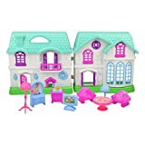 Jellydog Toy Doll House, My Sweet Home, Girl Dollhouse with Furniture, Pretend Play Doll House Toy for Toddlers