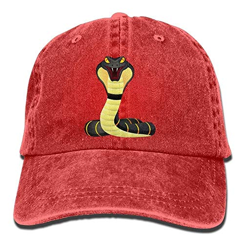 - Denim Baseball Cap King Cobra Snake Logo Summer Hat Adjustable Cotton Sport Caps