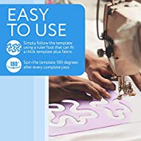 Made from Strong 3mm Thick Transparent Purple Acrylic Meander Quilting Template for Machine Quilting Easy to Use Free Motion Quilting Template for Domestic /& Industrial Machines
