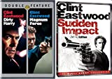 Sudden Impact Deluxe Edition & Dirty Harry + Magnum Force DVD Action Pack 3 Movie Set Clint Eastwood Crime Drama