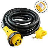 Leisure Cords 15 Foot Power/Extension Cord with 30 AMP Male Standard / 30 AMP Female Locking Adapter (30 Amp - 15 Foot)