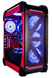 CUK Switch 77 - Gamer VR Ready Desktop (Intel Core i7-8700K, 32GB RAM DDR4, 256GB NVMe SSD + 1TB HDD, NVIDIA GTX 1080 Ti 11GB, 600W PSU, Windows 10 Home) Best Gaming Computer PC - Red