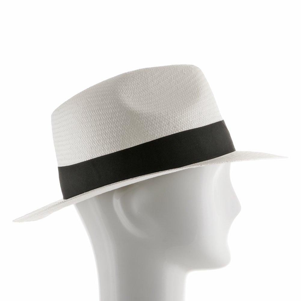 Ultrafino Trilby Straw Fedora WHITE Panama Hat 7 1/2 by Ultrafino (Image #3)