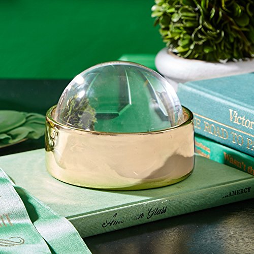 Glass Treasure Box - Two's Company 51153 Golden Treasure Box Display with Magnifying Dome