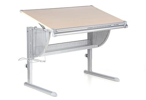 Hjh office scrivania per bambini nenos faggio argento