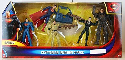 Superman Man of Steel Kryptonian Invasion Exclusive Action Figure 5-Pack (Mattel Toys)