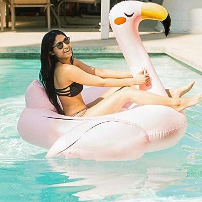 Amazon.com: Sirene Flotador de piscina de flamenco rosa ...