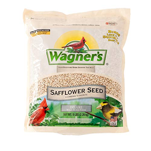 Wagner's 57075 Safflower Seed, 5-Pound Bag (Best Bird Seed To Attract Cardinals)