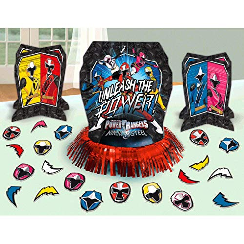 Power Rangers Invitations (Power Rangers Ninja SteelTM Table Decorating Kit, Party)