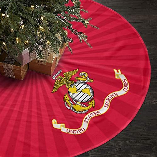 Mrshelp Funny USA Marine Corps Fashion Christmas Tree Skirt Fascinating Festival Gifts Skirt,Table Cloth,Ground Skirt,Tree SkirtFestival Diameter 35 Inch Christmas Tree White T-shirt