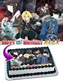 Fullmetal Alchemist Edible Image Cake Topper Personalized Icing Sugar Paper A4 Sheet Edible Frosting Photo Cake 1/4 ~ Best Quality Edible Image for cake