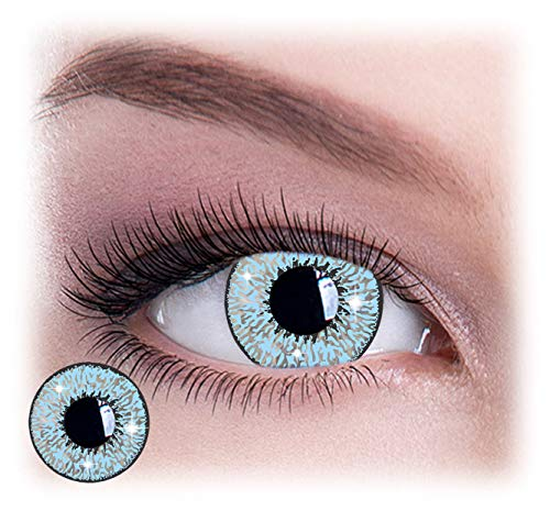 NewEyes - Women Multicolor Lenses Cute Charm Creative Contacts and Attractive Fashion Makeup Eye Shadow - Mystic Blue - Contacts Blue Eyes For