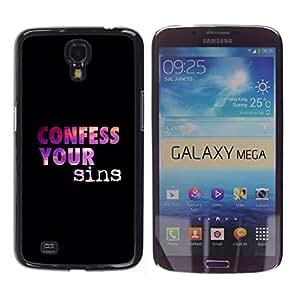 Paccase / SLIM PC / Aliminium Casa Carcasa Funda Case Cover para - BIBLE Confess Your Sins - Samsung Galaxy Mega 6.3 I9200 SGH-i527