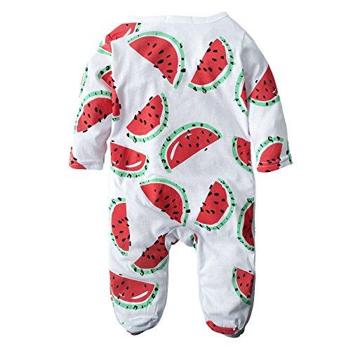 Big Elephant Baby Girls' Snap-Up Long Sleeve Romper Pajama J28