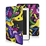Leafbook  Case for Kindle 8th Generation - The Thinnest and Lightest Leather Cover for Amazon All-New Kindle E-reader 6 [Magnetic] [Auto Wake / Sleep] (2016),Colorful shoes
