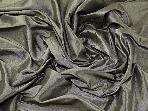 Crushed Textured Shot Taffeta Dress Fabric Taupe - per metre