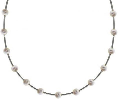 collier argent pierre blanche