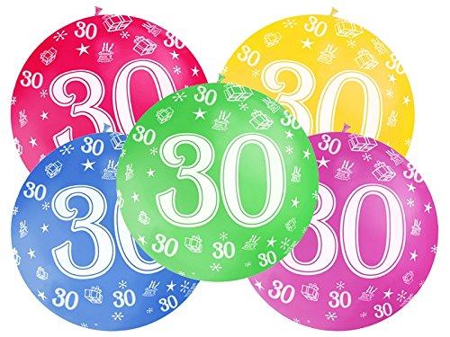 Globo Globo 1 metro de látex Número 30 cumpleaños 30 años 1 ...