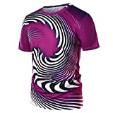Short Sleeve T-Shirt Unisex Tshirt 3D Graphic Short Sleeve Tees Funny Tops Creative Printed Tees Funny Muscle Blouse