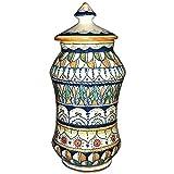 CERAMICHE D'ARTE PARRINI- Italian Ceramic Jar Hand Painted Decorated Deruta Made in ITALY Tuscan Art Pottery