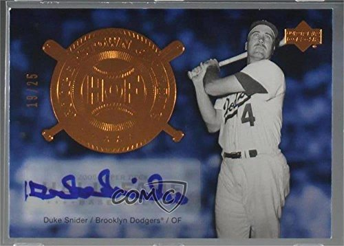 (Duke Snider #19/25 (Baseball Card) 2005 Upper Deck Hall of Fame - Cooperstown Calling - Autographs [Autographed] #CO-SN1)