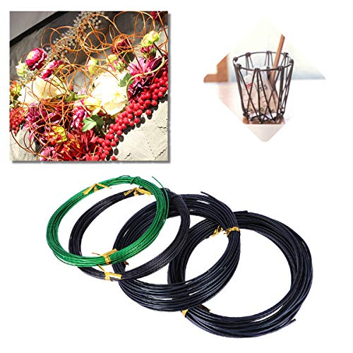Yardwe 4 Pcs Bonsai Training Wire Set Mixed Colors Craft Wire Roll for Gardening and DIY by Yardwe (Image #1)