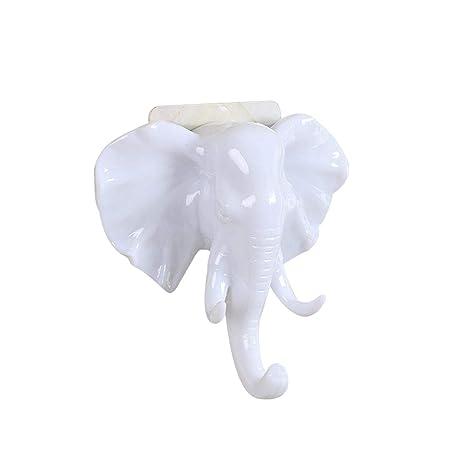 Amazon.com: Elephant Head Animal - Perchero autoadhesivo ...