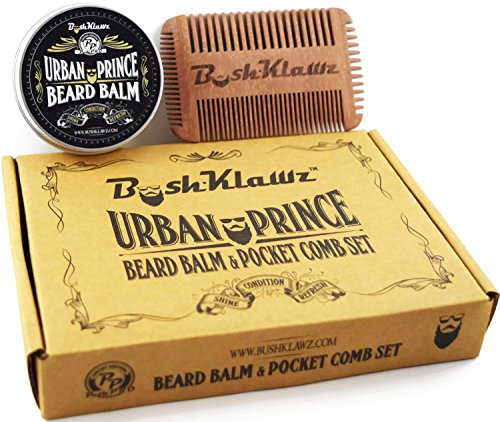 urban prince beard balm conditioner and 4klawz pocket beard comb gift set bea. Black Bedroom Furniture Sets. Home Design Ideas