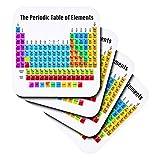 3drose la tabla peridica de elementos suave posavasos conjunto de 4 cst _