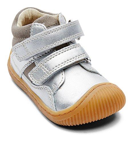 Shoe Velcro Brown Walk Kids Bundgaard Silver BzxnSt