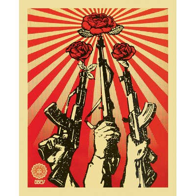 (16x20) Guns and Roses Obey Art Print Poster