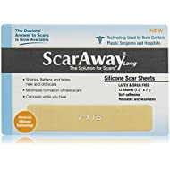 Scaraway Long Silicone Scar Healing Sheets - Contains the Full Dr. Recommended 24 Week Supply (2 pac