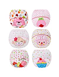 Z-Chen 6 Pack of Baby Girls Underwear Potty Training Pants Reusable, Size 12 Months