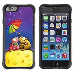 Pulsar Defender Series Tpu silicona Carcasa Funda Case para Apple iPhone 6 Plus(5.5 inches), Cute Love Mouse Couple