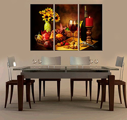 Compare price pictures for dining room on for Dining room wall art canvas