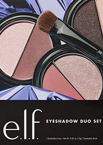 E.l.f. Eyeshadow Duo Gift Set with 3 eyeshadow duos and eyeshadow brush