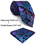 Shlax&Wing Multicolor Patterned Necktie Mens Ties Silk Geometric Unique Wedding Long